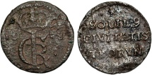 World Coins - Poland. City of Thorn.  John II Casmir (1648-1668). Rare  Shilling 1668. aVF