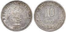 World Coins - Mexico. AR 10 Centavos 1903 M. VF+