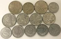 World Coins - Poland, P.R.L. LOF OF 13 COINS. 50 GROSZY TO 20 ZLOTY. VF to UNC