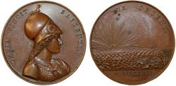 World Coins - France. AE40 Medal 1826. Dedicated to French World wide trading routes. Choice XF