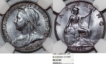 World Coins - Great Britain. Queen Victoria (1837-1901) Cu 1/4 Penny (Farthing) 1901. NGC MS63 BN