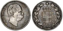 World Coins - Italy. Umberto I. AR 1 Lira 1886 M. VF