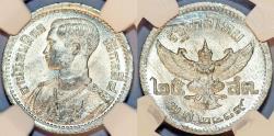 World Coins - Thailand. 25 Srang 1946. NGC MS66!
