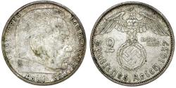 World Coins - Germany. Third Reich. AR 2 Reichsmark 1937 a. XF
