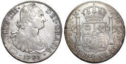 World Coins - Mexico. Charles IV of Spain. AR 8 Reales 1791 Mo-FM. Choice XF