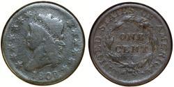 Us Coins - USA. Classic Head Cent 1808. Good, RARE