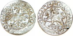 World Coins - Lithuania. Sigismund II Augustus (1546-1572). AR Half Gross 1565. XF