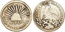 World Coins - Mexico. Republic. AR 1 Real 1830 Go-Mi. Fine+