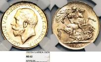 World Coins - Great Britain rule: South Africa. Gold 1 Sovereign 1927 SA. MS MS62