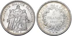World Coins - France. II Republic. Silver 5 Francs 1849 A. VF