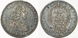 World Coins - ITALY. TUSCANY. Francesco II (III) di Lorena (1737-1765). AR Half Francescone of 5 Paoli 1764. Choice VF