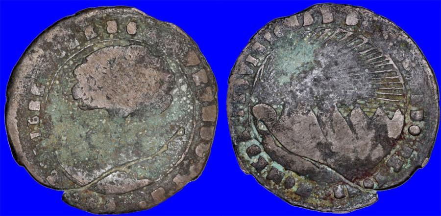 World Coins - Honduras. Provincial Coinage. Copper 8 Reales 1858 TA. Good+ , unclean
