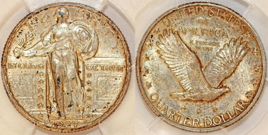 US Coins - USA. Standing Liberty Quarter 1927. PCGS MS62!