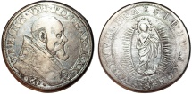 World Coins - Italy. Papal States. Urban VIII (1623-44). AR Piastra 1643. Toned Fine+