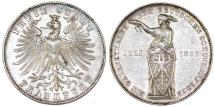 "World Coins - Germany. Free city of Frankfurt. Free City ""Shooting"" Taler 1862. Good AU, nice luster"