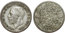World Coins - Great Britain. King George V (1911-1935) Silver 6 Pence 1932. VF, toned