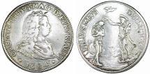 World Coins - ITALY. Cosimo III de' Medici Grand Duke of Toscana (1670-1723). AR Piastra 1684. aVF