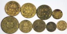 World Coins - Tunisia. French Administration. Lot of 9 Coins. 50 Centime to 5 Francs 1921-1946. VF-XF