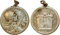 World Coins - France. Famous WWI MEDAL. Commemorating Battle of Verdun Medal 1916. VF+, RARE
