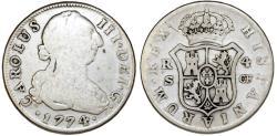 World Coins - SPAIN, Reino de España. Carlos III. 1759-1788. AR 4 Reales 1774 S. Fine