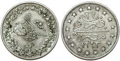 World Coins - Egypt. Muhammad V. AR Qirsh (AH1293/20) (1896). Choice XF