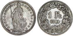 World Coins - Switzerland. Federation. AR 1 Franc 1901-B. VF+