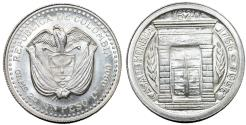World Coins - COLOMBIA. Republic. Silver 1 Peso 1956. Choice UNC