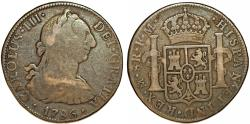 World Coins - Mexico. Charles III of Spain (1760-1788) AR 8 Reales 1786 Mo-FM. Fine+, toned