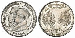 World Coins - Brazil. Republic. AR Commemorative 2000 Reis 1922. Choice VF