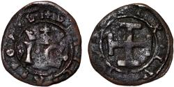 World Coins - Italy Naples and Sicily Joanna the Mad and Charles V of Habsburg (1516 - 1519) Cu Grano ND. Fine+.
