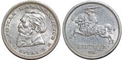 World Coins - Lithuania. Republic. AR 5 Litai 1936. AU