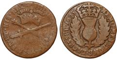 World Coins - Scotland under Britain. William II of England  and Anne (1694-1702). Cu Bodle 1695. Good+