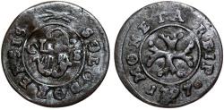 World Coins - Swiss Cantons. Solothurn. Cu 1/2 Kreuzer 1797. Fine+