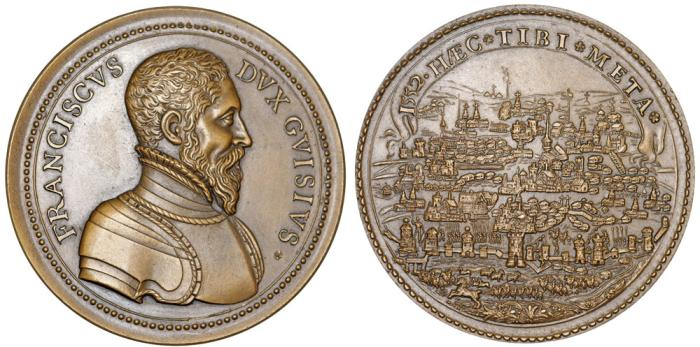 World Coins - FRANCE. Anonymous ca.1590 ( this is a restrike). François de Lorraine, second duc de Guise (1519-15630 . UNC