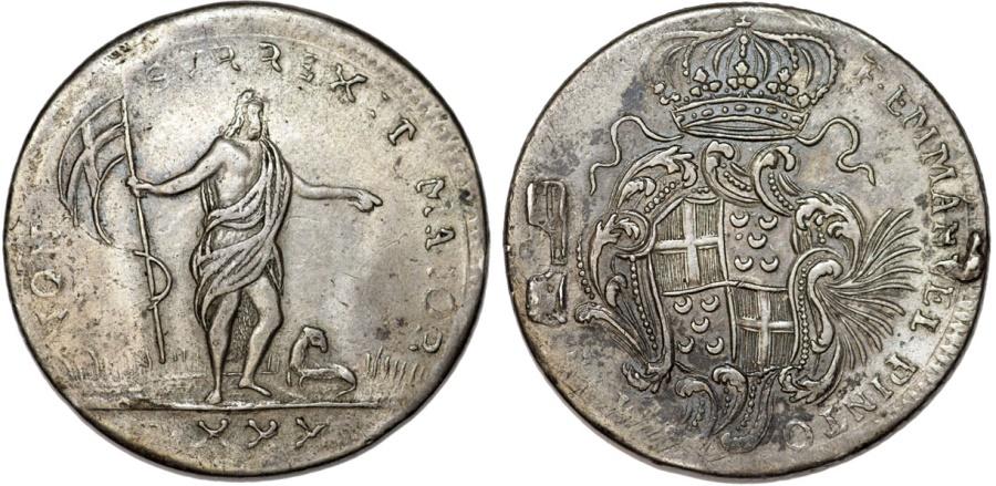 World Coins - Malta. Military Knights Order of St. John. Grand Master Emmanuel Pinto (1741-1773) AR 30 Tari 1761. VG