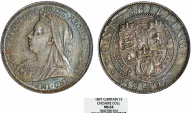 World Coins - Great Britain. Queen Victoria (1837-1901) AR 1 Shilling 1897. NGC MS64, toned
