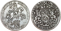 World Coins - Netherlands. Holland. AR Ducatone called: Silver Rider 1765. Choice VF