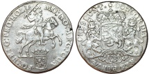 World Coins - Netherlands. Holland. AR Ducatone called: Silver Rider 1766. About VF