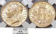 World Coins - Australia. Queen Victoria (1837-1901) Gold Sovereign 1871 S (Shield1. NGC AU58