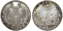 World Coins - GERMANY: Nürnberg (Stadt) as part of H.R.E. Joseph The Emperor (1765-1790). AR Reichstaler 1768. Choice XF