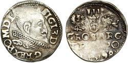 World Coins - Poland. Rzeczypospolita. Poznan. king Sigismund III. AR 3 Gross 1598, about VF