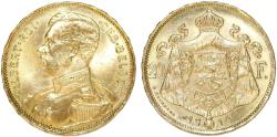 World Coins - Belgium. King Albert. Gold 20 Francs 1914. Good AU