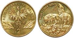 World Coins - Poland. III Republic. Nordic Gold 2 Zlote 1999. Choice UNC