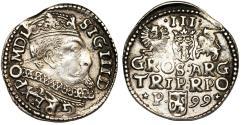World Coins - Poland. Rzeczypospolita. Poznan. king Sigismund III. AR 3 Gross 1599, VF+