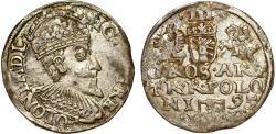 World Coins - Poland. Rzeczypospolita. Olkusz. king Sigismund III. AR 3 Gross 1595. Toned XF