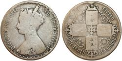 World Coins - Great Britain. Victoria. AR GOTHIC 1 Florin 1862. VG+