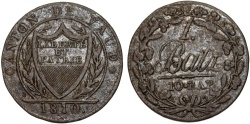World Coins - Swiss Cantons. Vaud. BI 1 Batzen (10 Rappen) 1810. VF+
