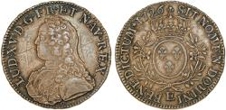 World Coins - France. King Louis XVII (1774-1793). Silver RARE ECU 1726 (E). Choice XF, toned