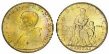World Coins - Vatican. Pope Paul VI (1963-1975). 20 Lire 1964. UNC