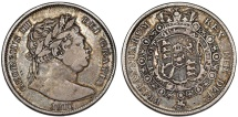 World Coins - Great Britain. George IIII (1820-1830). Silver Half Crown 1817. VF, toned.